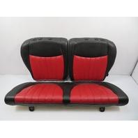 12 Fiat 500 #1116 Rear Seats, Black/RED