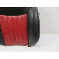 12 Fiat 500 #1116 Seat Cushion, Backrest, Front Left, Black/Red Leather