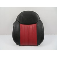 12 Fiat 500 #1116 Seat Cushion, Backrest, Front Right, Black/Red Leather