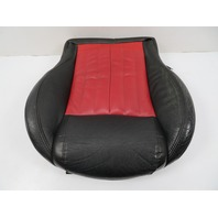 12 Fiat 500 #1116 Seat Cushion, Bottom, Front Left, Black/Red Leather