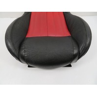 12 Fiat 500 #1116 Seat Cushion, Bottom, Front Right, Black/Red Leather