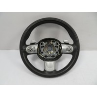 07 Mini Cooper S R56 #1117 Steering Wheel, Sport W/ Paddles, Black Leather