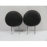 07 Mini Cooper S R56 #1117 Headrest Pair, Front Seats, Black Leather