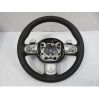 07 Mini Cooper S R56 #1118 Steering Wheel, Sport W/ Paddles, Black Leather