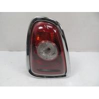 07 Mini Cooper S R56 #1118 Taillight W/ Chrome Trim, Left 2751307