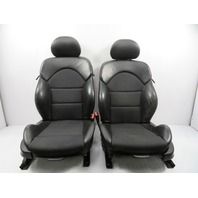 "03 BMW M3 E46 #1119 Seat Pair, Front Power Heated Sport, Black Cloth ""IMPULS"""