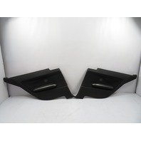 "03 BMW M3 E46 #1119 Trim Pair, Interior Quarter Panel, Black Cloth ""IMPULS"""