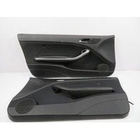 "03 BMW M3 E46 #1119 Trim Pair, Interior Door Panel, Black Cloth ""IMPULS"""