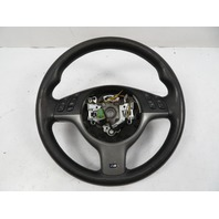 03 BMW M3 E46 #1119 Steering Wheel, 3-Spoke SMG W/Paddles, Black