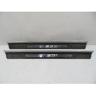 """03 BMW M3 E46 #1119 Trim Pair, """"M3"""" Script Door Sill Scuff 8204114 8204114"""