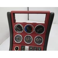 BMW Z3 M E36 #1120 Center Console, Complete Gauges Black/Red Leather