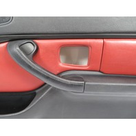 BMW Z3 M E36 #1120 Door Panel W/ Airbag Pair, Black/Red Nappa Leather