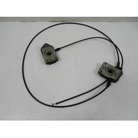 BMW Z3 M E36 #1120 Lock Latch Pair W/ Cable, Hood Release