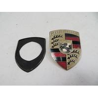 87 Porsche 928 S4 #1123 Emblem, Hood Crest OEM GOLD 90155921020