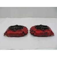 87 Porsche 928 S4 #1123 Brake Caliper Pair, Front Brembo 944 Turbo S 951