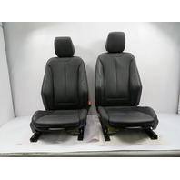 16 BMW M235i F22 #1126 Seat Pair, Front Heated Sport W/ Lumbar, Black
