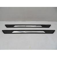 16 BMW M235i F22 #1126 Trim Pair, Door Sill, LED Illuminated M Performance