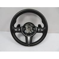 16 BMW M235i F22 #1126 Steering Wheel, Sport/Heated, Black Leather