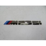 "16 BMW M235i F22 #1126 Emblem, Rear Trunk ""M 235i"" 8055967"
