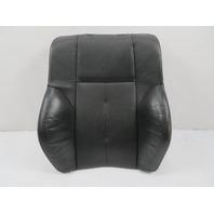 04 BMW 645ci 650i E63 #1131 Seat Cushion, Backrest, Left, Black Leather