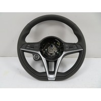 19 Alfa Romeo Giulia #1133 Steering Wheel, Multifunction W/Switches, Black