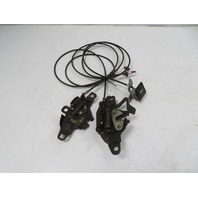 86 Toyota MR2 AW11 MK1 #1137 Lock Latch Pair & Cable, Engine Lid