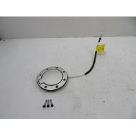 00 Audi TT MK1 #1141 Trim, Fuel Filler Door Lid Flap, Aluminum