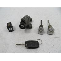 00 Audi TT MK1 #1141 Lock Set, Ignition Door Key FOB 4B0905851B