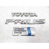 09 Toyota Prius #1147 Emblem Set, Rear Trunk Hatch OEM