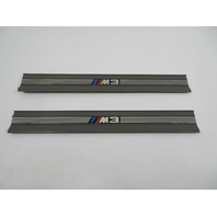 "98 BMW M3 E36 #1148 Trim, Door Sill Pair, Front OEM Grey ""M3 Script"""
