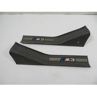 "98 BMW M3 E36 #1148 Trim Pair, Entrance Cover Door Sill, Rear Grey ""M3 Script"" Sedan"