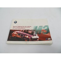 98 BMW M3 E36 #1148 Owners Manual