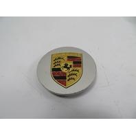 Porsche 944 S2 #1151 Center Cap, Hubcap, Silver w/ Gold Emblem 92836103100
