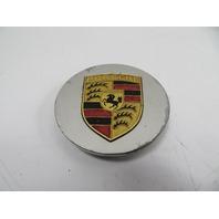 91 Porsche 944 S2 #1151 Center Cap, Hubcap, Silver w/ Gold Emblem 92836103100