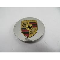 91 Porsche 944 S2 #1151 Center Cap, Hubcap, Silver w/ Gold Emblem