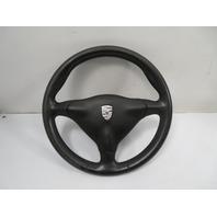 00 Porsche Boxster S 986 #1156 Steering Wheel & Airbag, 3-Spoke, Black Leather 911