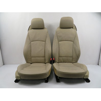 03 BMW Z4 E85 E86 #1159 Seat Pair, Leather Oregon, 8-Way Power Heated, Beige Left & Right