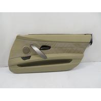 03 BMW Z4 E85 E86 #1159 Door Panel, Part Leather Oregon Beige, Right Passenger