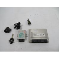 03 BMW Z4 E85 E86 #1159 Lock Set, Engine ECU Immobilizer Ignition 2.5L M54