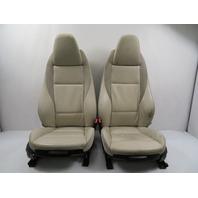 10 BMW Z4 E89 #1160 Seat Set, Front Power Heated, Ivory White