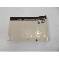 95 Lexus SC300 SC400 #1065 Owners Manual, Book OEM 01999-24411