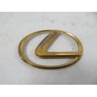 95 Lexus SC300 SC400 #1065 Emblem, Oval Lexus Trunk Badge Sign Gold OEM