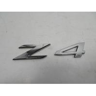 "BMW Z4 E89 Emblem, Rear Trunk ""Z4"" OEM 7221372"