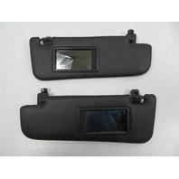 Fiat 500 Sunvisor Pair W/ Mirrors, Black