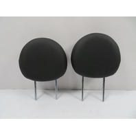 Mini Cooper S R56 R57 Headrest Pair, Front Seats, Black Leather
