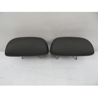 01-06 BMW E46 M3 Headrest Pair, Rear, Coupe Black Leather