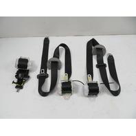 Toyota Highlander Seatbelt Pair, 3rd Row, Left, Right, Center Black
