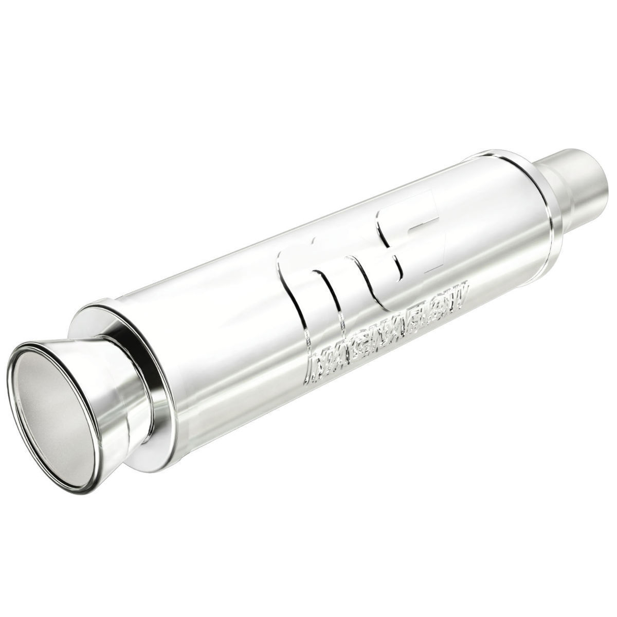 """2.25/"""" IN 4/"""" OUT MagnaFlow 14807 Polished Street Muffler w// Dual Tips"""