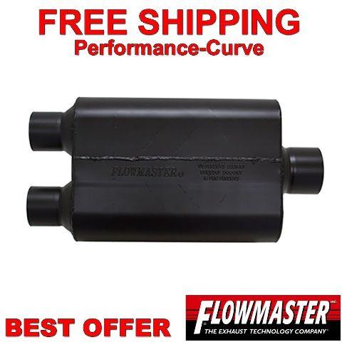 "3/"" C Flowmaster Super 44 Series Stainless Steel Muffler 2.5/"" D 8425453"