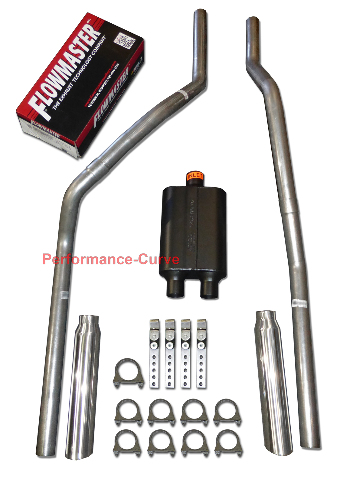 S10 S15 83-94 dual exhaust 2.25 pipe Flowmaster Super 10